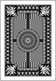 Playing card back side 62x90 mm — ストックベクタ