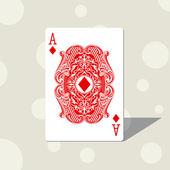 Ace diamond — Stock Vector