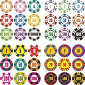 Casino chips — Vector de stock