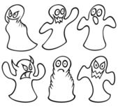 Set of ghosts — Stock Vector