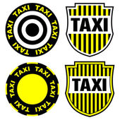 Taxi signs and emblems — Stock Vector