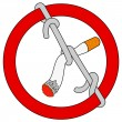 Vettoriale Stock : Stop smoking sign