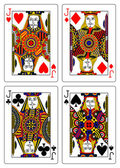 Set of jacks playing cards 62x90 mm — ストック写真