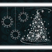 Christmas card with ornaments — Wektor stockowy