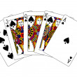 Stock Photo: Spades royal flush