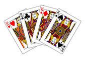 レッドキングス ポーカー — ストック写真