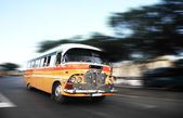 The iconic Malta public buses — Stock Photo