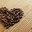 Stock Photo: Symbol of Love, coffee beans