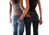 Two sexy girl friend — Stock Photo