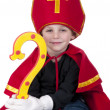 Boy dressed up as Dutch Santa Claus Sinterklaas — Stock Photo #7568024
