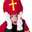 Boy dressed up as Dutch Santa Claus Sinterklaas — Stock Photo #7568051