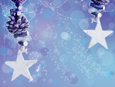 Beautiful Christmas background with stars — Stock Photo