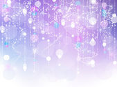 Purple and blue bokeh sparkle background — Stock Photo