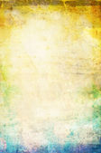 Beautiful water color on old paper texture background — Stock Photo