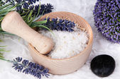 Lavender Spa and wellness set — Stock Photo