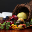 Cornucopie and the Bible - Stock Photo