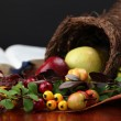 Cornucopie and the Bible — Stock Photo