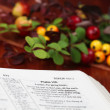 Royalty-Free Stock Photo: Thanksgiving Bible