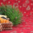 Royalty-Free Stock Photo: Christmas tree basket with dried fruits
