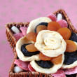 Dried fruits in a basket — Stock Photo #7414186