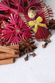 Christmas angel and spices — Stockfoto
