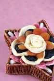 Dried fruits in a basket — Stock Photo