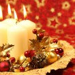 Christmas decoration with candles - Photo