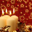 Christmas decoration with candles — Stock Photo #7424009