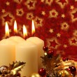 Christmas decoration with candles - Foto Stock