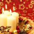 Christmas decoration with candles - Stockfoto