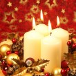 Christmas decoration with candles — Stock Photo #7424021