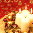 Christmas decoration with candles — Stock Photo