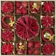 Straw Christmas ornaments — Stock Photo