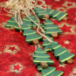 Wooden Christmas trees — Stock Photo #7424826
