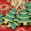 Wooden christmas trees — Stock Photo