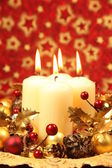 Christmas decoration with candles — Foto de Stock