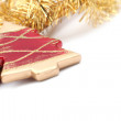 Red Christmas tree ornament — Stock Photo