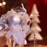White Christmas decoration — Stock Photo