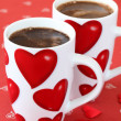 Coffee with hearts — Stock Photo #7436534