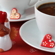 Coffee with hearts and angel — Stock Photo #7436552