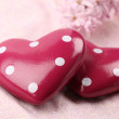 Dotted hearts — Stock Photo