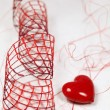 Heart and ribbon — Stock Photo