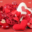 Stock Photo: Heart decorations