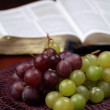 Grapes and the Bible — Stok fotoğraf