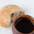 Wine and bread — Stock Photo #7438351