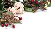 Jingle bell and star Christmas decoration — Stock Photo