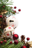 Jingle bell Christmas border — Foto Stock