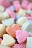 Candy hearts background — Stock Photo