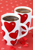 Coffee with hearts — Stock Photo
