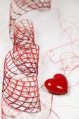 Heart and ribbon — Stock Photo